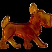 Vintage Acrylic / Lucite Scottie Scottish Terrier Dog Animal Figurine