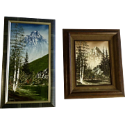 Harry Lauter (1914-1990) Oil Paintings Landscapes of Mountains Signed by Actor and Artist