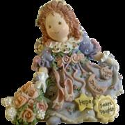Enesco Sweet Daughter Ballerina Shoes Angel Figurine Patterns of Life 255289 Claudia Stening Olsen Resin Figurine 1996