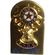 B.P.O.E. Elk Lodge 30 Year Service Award Member Pin