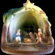 Nativity Nuova Capodimonte Baby Jesus Christmas Manger Scene Porcelain Figurine Italy
