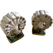 Vintage Peacock Birds Salt and Pepper Shakers Made in Mexico Ceramic Figurines