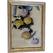 M. L. Duncan Antique Oil Painting Hanging Floral Still Life 1897 Monogrammed by a Listed Artist