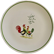 "Family Affair Pattern Horizon by Steubenville Rooster with Hen and Chicks 10-1/4"" Single Dinner Plate Setting"