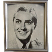 Vintage Tyrone Power Fox Suez Black & White Print Movie Portrait