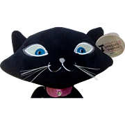"Discontinued Pinkies Palace Stuffed Plush Animal Black Cat 14"" Mervins Excellent Condition With Original Hang Tag"