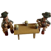 Erzgebirge Wooden Oompah Band Germany Hand Made Figurines
