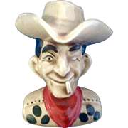 Vintage Las Vegas Vic Cigarette Cowboy Ceramic Salt or Pepper Shaker Pal Mar Japan
