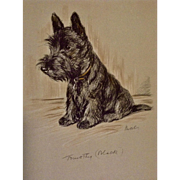 1930's-1940's Lucy Dawson, Scottish Terrier Named Timothy Black (Mac) Framed Print from the Book, Dogs Rough And Smooth