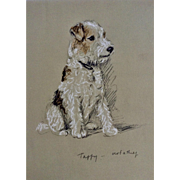 1930's-1940's Lucy Dawson, Wire Haired Terrier Named Taffy Framed Print from the Book, Dogs Rough And Smooth