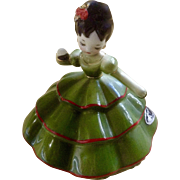 Vintage Josef Originals Mexico Girl with Castanets Figurine Little Internationals Series Made in Japan