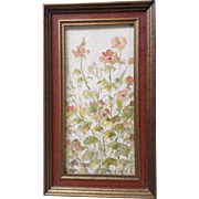 Janik, Small Floral Oil Painting on Board Signed by Artist