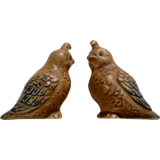 Adorable Quail Babies Pottery Figurines Fine Quality Made in Japan Mid-Century
