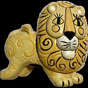 Vintage Whimsical Adorable Lion Piggy Bank Animal Figurine