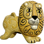 Vintage Whimsical Adorable Lion Piggy Bank Animal Figurine