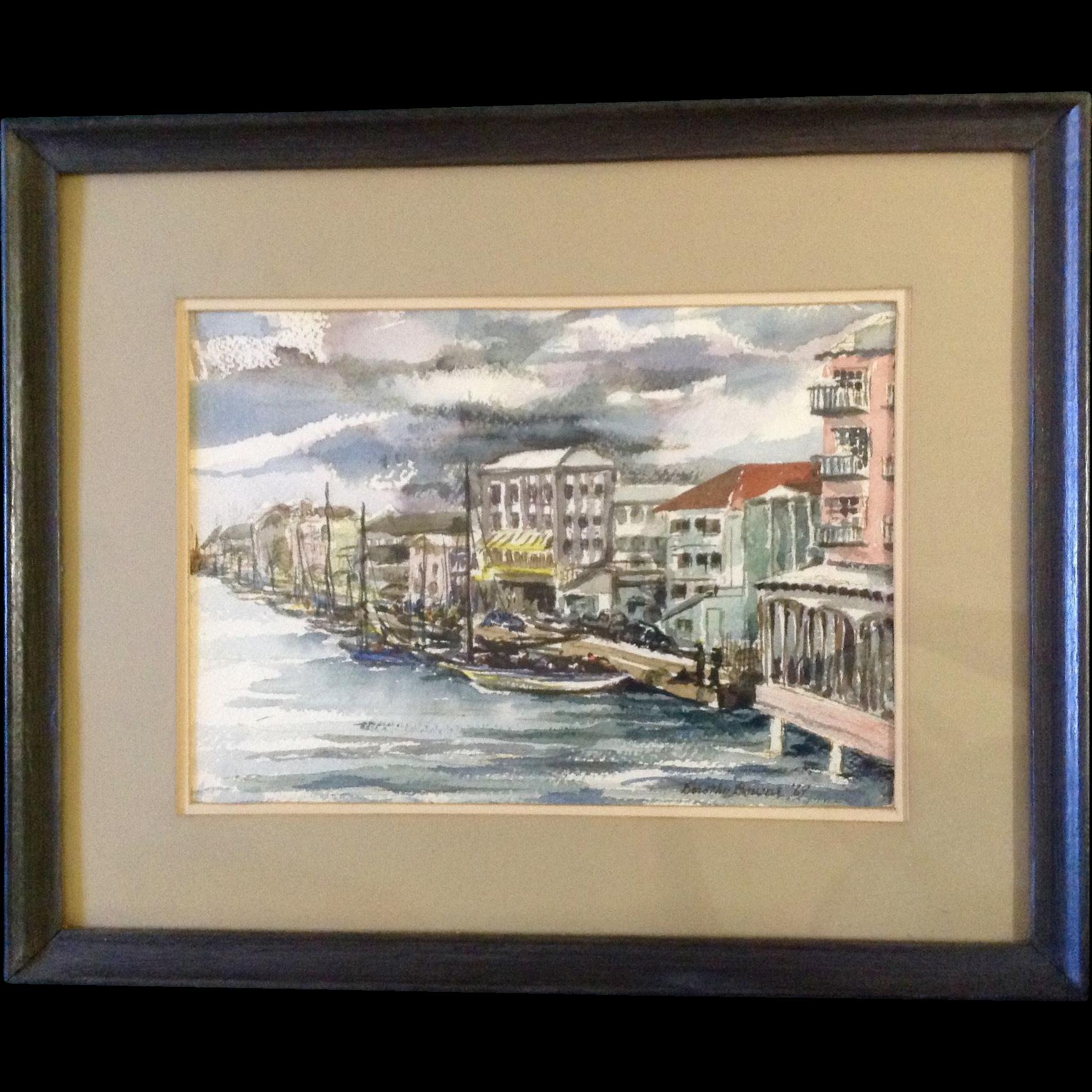 dorothy bourne painting wharf street nassau bahamas