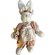 Hallmark Retired Bunnies By The Bay Bunny Cakes 2002 Stuffed Plush Animal With Original Stand 13""