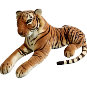 Vintage KellyToy USA Large Bengal Tiger Stuffed Plush Animal 30""