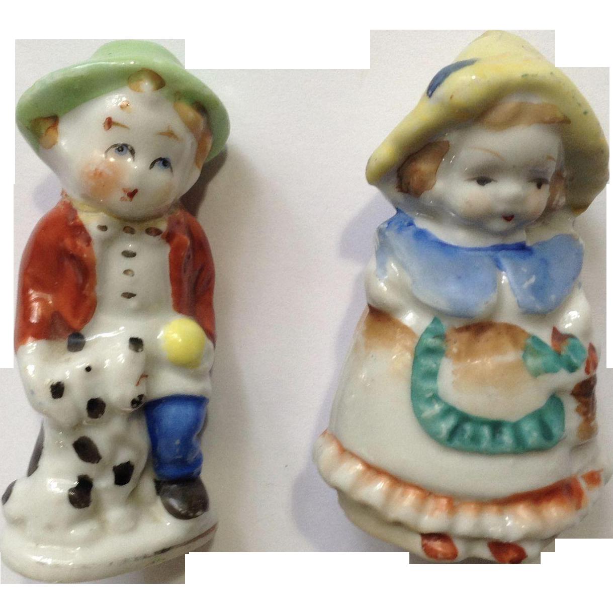 Occupied Japan Porcelain Figurines Dutch Couple