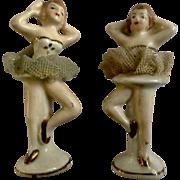 Vintage Japan Porcelain Figurines Ballerina Dancers