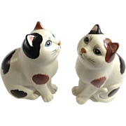 Vintage Calico Kitty Cat Figurines Bookends RO Royal Orleans Japan