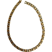 "Lovely Gold-Tone Silver-Tone 17-1/2"" Necklace"