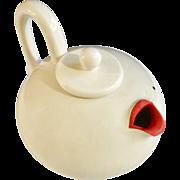 Vintage Fitz & Floyd FF Marilyn Monroe Lip Service Teapot Made in Japan Pottery