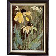 Ann Haymond Zwinger (1925–2014) Black-Eyed Susans Sunflowers Collage