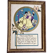 Vintage Mother Mine Poem Print R D F Company New York 1935 NRA Code Stamp