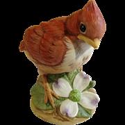 Andrea by Sadek Red Cardinal Bird Ceramic Figurine Japan 6350
