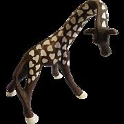 Super Rare Mid-Century Aurasperse Giraffe Large Ceramic Pottery Figurine
