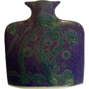 Beautiful Jason Bloom Hand Made Blue Pottery Miniature Vase ESP Signed by Pennsylvania Artist