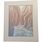 Greg McBride Original Serigraph Screen Print Signed Artist Proof 1987 Canyon Spring Limited Edition