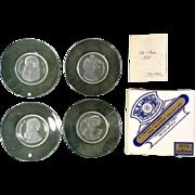 Val St. Lambert 1968 / 1970 Old Masters Crystal Collection, Belgium - Leonardo Da Vinci - Michelangelo - P. P. Rubens - Rembrandt Collectors Plates