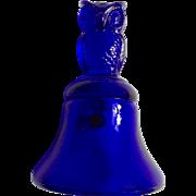 Boyd Owl Bell Cobalt Blue Glass 1st Run