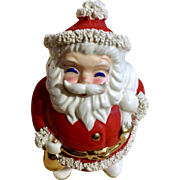 Vintage Christmas Santa Claus Programs Spaghetti Trim Santa Bank Japan