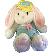 "Hallmark Crayola Crayon Bunny 1989 - 1990 Limited Edition Huge 41"" inches Tall Stuffed Plush Animal with Original Tush Tag Easter"