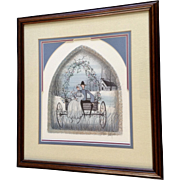 P. Buckley Moss, Amish Wedding Morn, Very Rare Limited Edition Print Signed by Listed Artist 1985