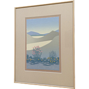 Ken Peterson, Desert Flowers III Serigraph Screen Print Limited Edition Signed by Taos Artist