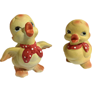 Adorable Frankel Baby Duck Chicks With Red and White Bandana Animal Figurines