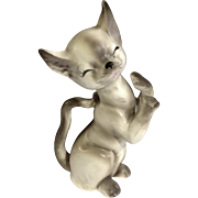 Lefton's Playful Siamese Kitty Cat Rare Animal Porcelain Figurine #1087