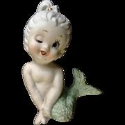 Vintage Bradley Exclusives Mermaid Winking Girl Bisque Figurine