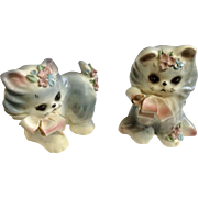 Vintage Josef Originals Puff & Fluff Kitty Cat Mid-Century Japan Figurines
