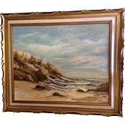 Joseph Boon, Painting, Weather Beaten Coastal Landscape Oil Painting on Canvas Signed by Listed Artist