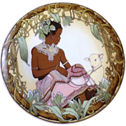 "Children of the World 1979 Unicef Various Nations Heinrich Villeroy Boch Africa 7 3/4"" Diameter Plate #3"