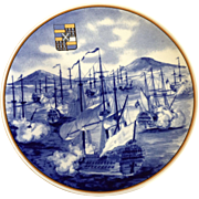 Galleria Ceramica Villeroy & Boch Limited Edition Collectors Plate 1983 Ostindien Naval battles of the East Indies Campaign 1782-1783