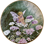 1980 The Candytuft Fairy Collectors Plate Flower Fairies by Heinrich H&C Villeroy Boch Germany Discontinued