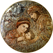 """Knowles Edna Hibel The Nativity Christmas Plate 1990 Limited Edition Collectors Plate 10-1/4"""""""