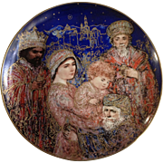 """Knowles Edna Hibel The Gifts of the Magi Christmas Plate 1986 Limited Edition Collectors Plate 10-1/4"""""""