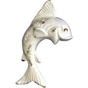 Vintage Large Fish Wall Pocket Planter Opalescent California Pottery Made by Nameth Enterprises
